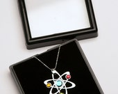 3 Stone Science Symbol necklace