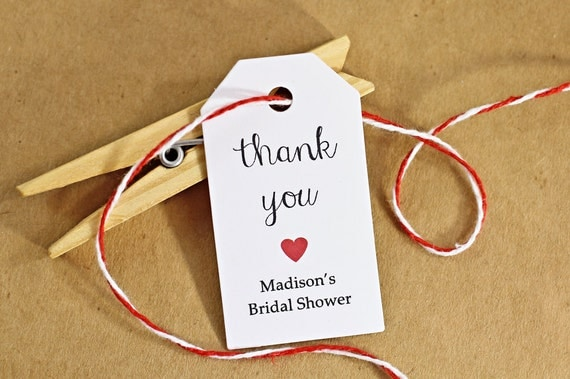 Bridal Shower Gift Thank You Sayings : Wedding Favor Tags - Gift Tags, Thank You Tags, Bridal Shower Tags ...