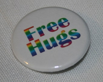 Free Hugs 1.25 inch Pinback Button