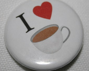 "I ""Heart"" Tea 1.25 inch Pinback Button"