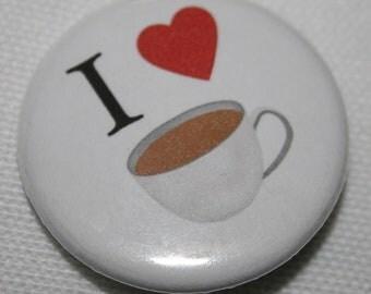 "I ""Heart"" Tea 1.25 inch Pinback Button"