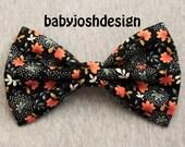 Tancho Small Floral Black Fabric Hair bow for teens or women,girls hair bows,basic hair bows , Hair Bows