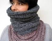 Pink Stone  Neckwarmer Hand Crocheted Cowl Super soft  Unisex  Woman Cowl NEW