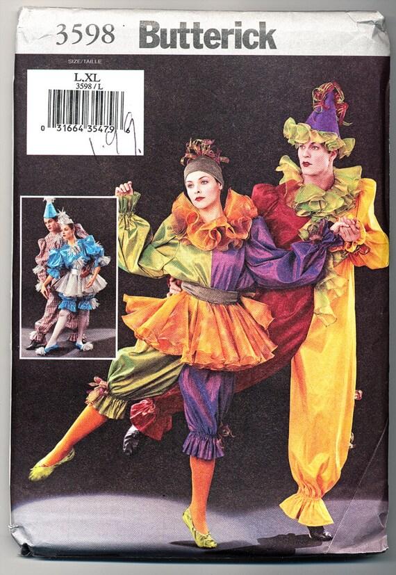 Butterick Costume Pattern 3598 Clown
