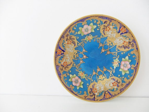Meito China trinket dish - China pin dish - Nagoya Seitosho  hand painted china