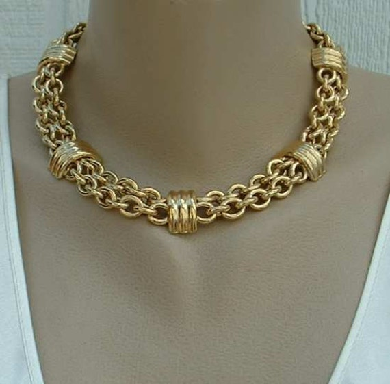 Heavy Chain Necklace Quality Gold Plated 18 inches Hidden Clasp Jewelry
