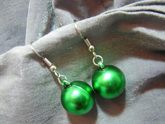 Christmas Ornament Earrings - Your Choice of Color - Handmade by Rewondered D225E-55514 - $5.95