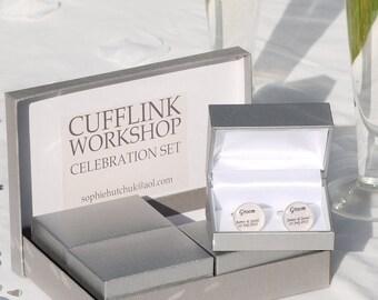 Box set wedding cufflinks, Wedding cufflinks box set, box set of wedding cufflinks, set of wedding cufflinks, wedding cufflinks set, box set