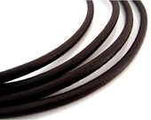 1.5 mm - 32.80 ft. Genuine soft leather round cord - Natural Antique Black (10 Meters) AAA Quality