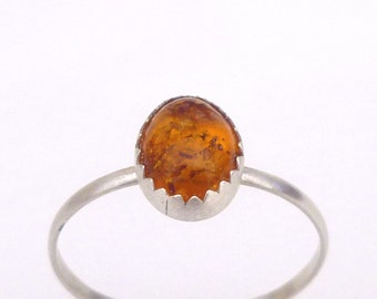 Amber Cab Recycled Silver Stack Ring