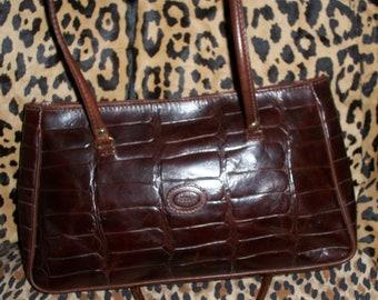 ROBE di FIRENZE crcodile leather purse