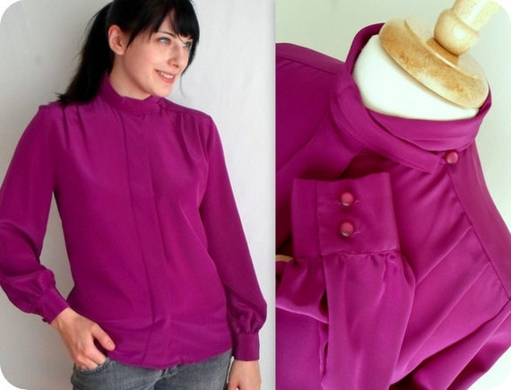 Purple Pendleton Secretary Blouse