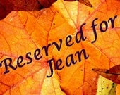 Reserved for Jean