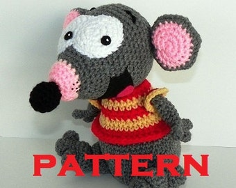 Toopy PATTERN PDF- Crocheted Doll - Toopy & Binoo Show