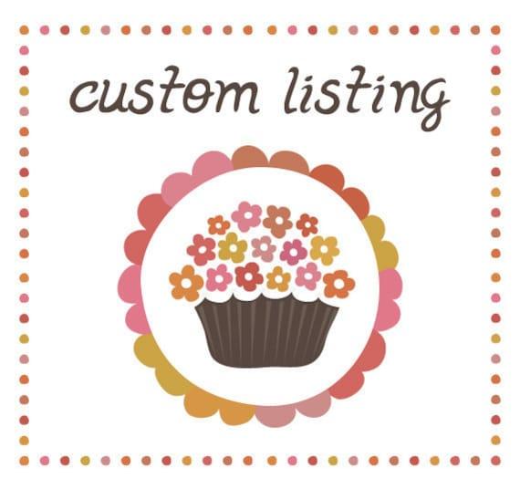 Custom Listing for Eva Horvath