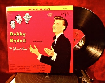 "BOBBY RYDELL - Bobby Rydell...Salutes the""Great Ones"" - 1961 Vintage Vinyl Record Album"