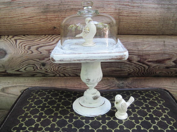 Chunky Upcycled White Pedestal Cloche