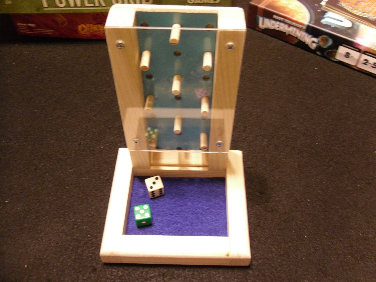 Mini Wooden Dice Tower