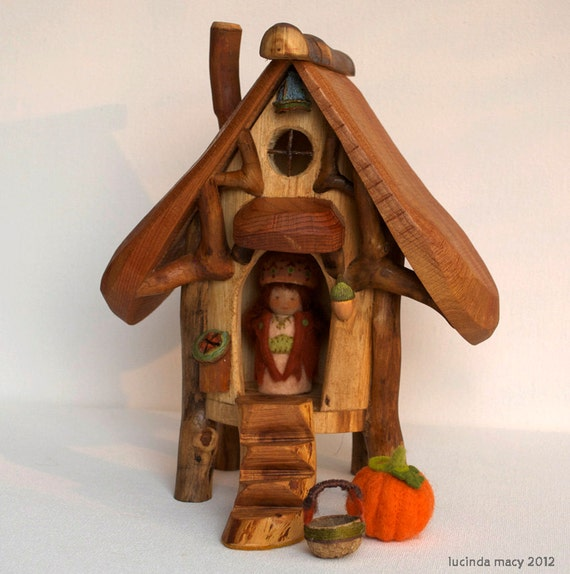 Twig Gnome or Fairy house for Autumn
