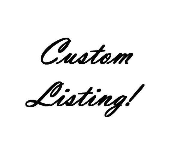 Custom Listing for Najwa