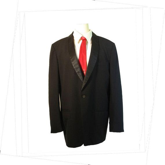 1960s Tuxedo Jacket  Mens Vintage Narrow Lapel Formal Jacket  PALM BEACH  43 Long