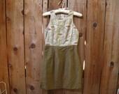 GoRGeOuS 1950s / 60s SWEET PEA BROCADE dress xs / s