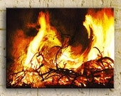 Fire photography, Bonfire in the South, the Gate, 16x24 ThinWrap, ready to hang