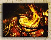 Fire photography, Bonfire in the South, the Heart, 16x24 ThinWrap, ready to hang