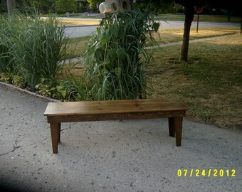 "wooden bench seating 60""-15"" deep custom made"