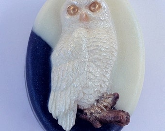 Owl On A Moonlit Night - Unique, Handcrafted Cocoa Butter and Olive Oil Glycerin Soap