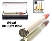 Cocobolo Wood Bullet Pen - 50 caliber machine gun