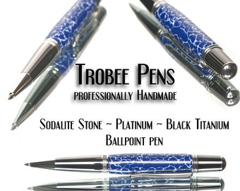 Blue ballpoint pen Sodalite high quality  Great everyday writing pen