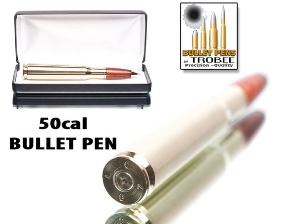 Cocobolo Wood Bullet Pen - 50 caliber machine gun