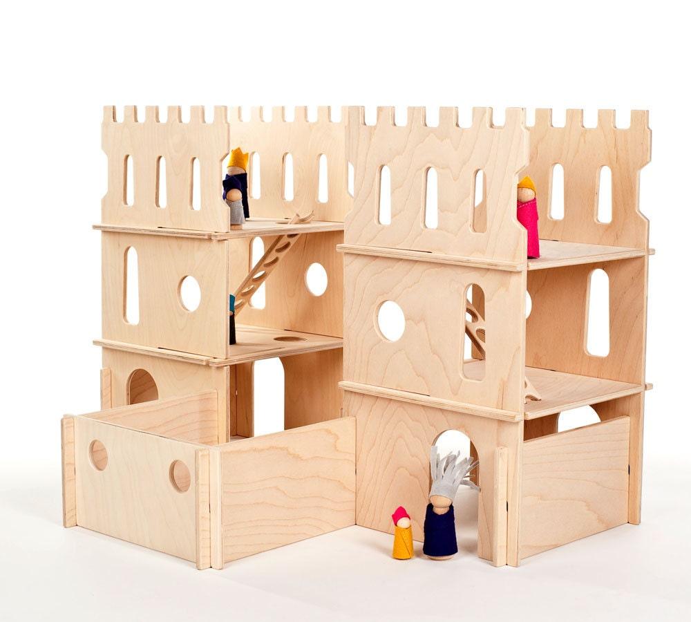 wood castle // spark creativity with modular wood castle