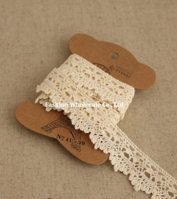 3 Yards Crochet Cotton Lace - Gaga (Free Bobbin Cardboard)