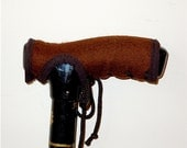 Cane Handle Cover - Brown - Walking Cane - Walking Stick - Cane Handle Grip