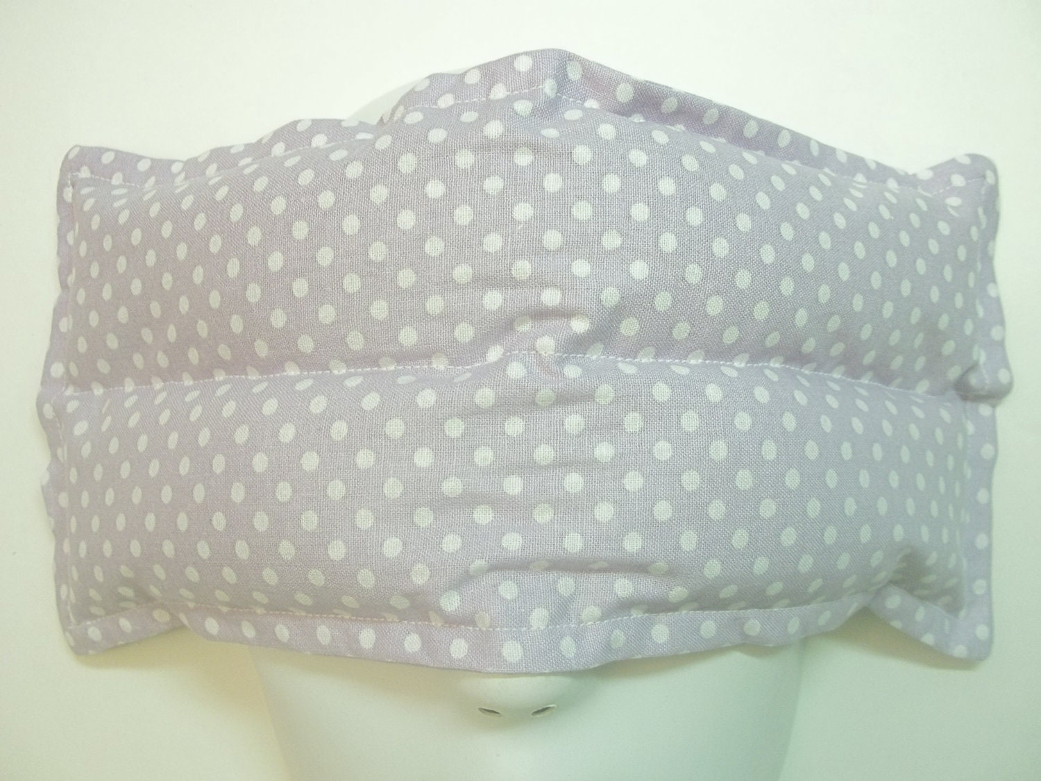 Herbal Scented Animal Eye Pillows : Herbal Hot/Cold Aromatherapy Therapy Eye Pillow Polka Dots Purple