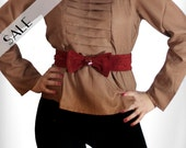 Bow Belt in Red Suede  s m l xl 50% SALE