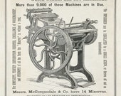 Minerva Printing Press Antique Reproduction Print from Curious London