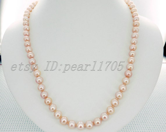 Pink akoya cultured pearls necklace 14k gf pearl jewelry fine gift