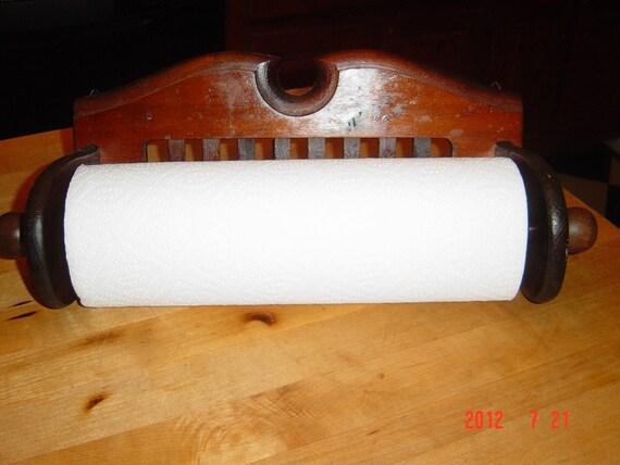 Vintage, Paper Towel Holder, Solid Wood