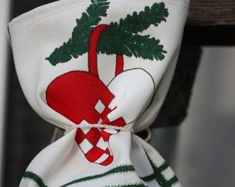 Gingerbread - Fabric Reusable Product Bag, Gift Bag, Christmas Theme Design - Medium Size