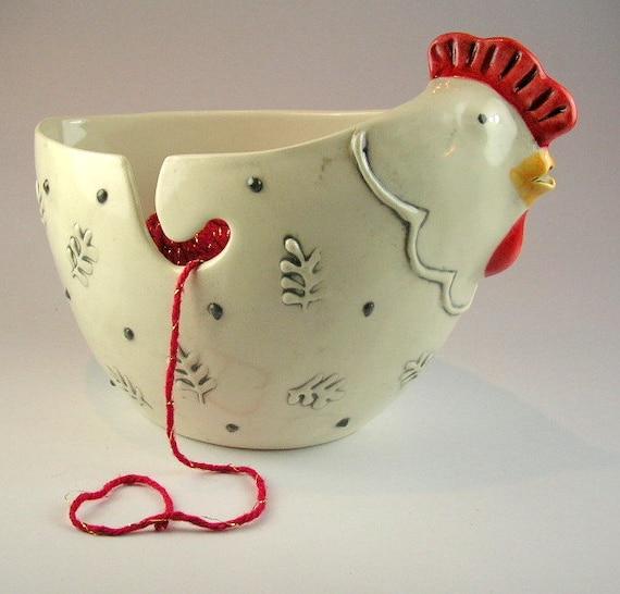 Hen planter or yarn bowl
