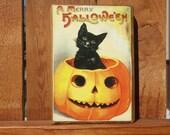 Halloween Wooden Block