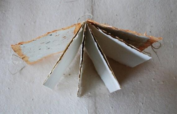 blank journal, accordian, handmade paper
