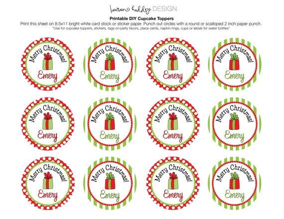 DIY, Personalized Merry Christmas favor tags