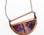 Half moon Horsehead Nebula Constellation Galaxy Space Universe Astronomy Pendant necklace