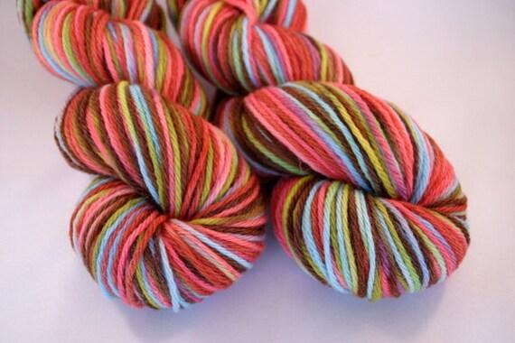 Hand Dyed Yarn Kingfisher Merino Fall Rainbow
