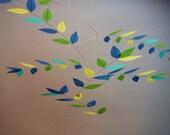 Impressionist Monet Hand Dyed Stylized Leaf Mobile