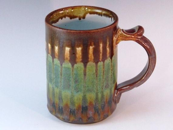 Mug with multiple glazes